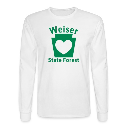 Weiser State Forest Keystone w/Heart - Men's Long Sleeve T-Shirt