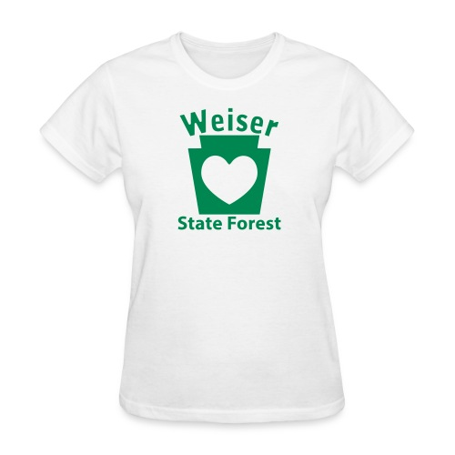 Weiser State Forest Keystone w/Heart - Women's T-Shirt