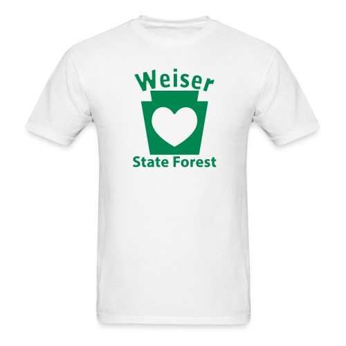 Weiser State Forest Keystone w/Heart - Men's T-Shirt