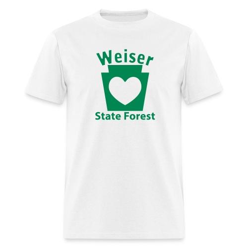 Weiser State Forest Keystone w/Heart - Men's T-Shirt