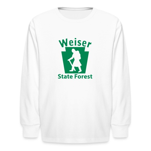 Weiser State Forest Keystone Hiker (female) - Kids' Long Sleeve T-Shirt