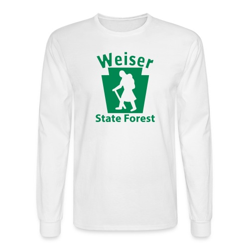 Weiser State Forest Keystone Hiker (female) - Men's Long Sleeve T-Shirt
