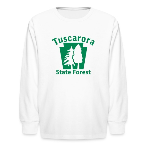 Tuscarora State Forest Keystone w/Trees - Kids' Long Sleeve T-Shirt