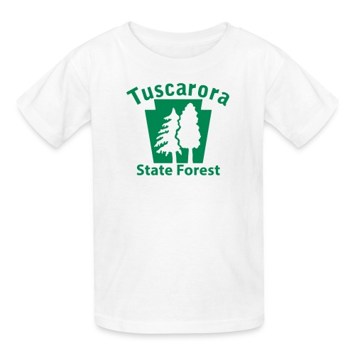 Tuscarora State Forest Keystone w/Trees - Kids' T-Shirt