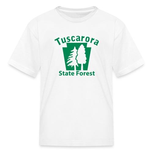 Tuscarora State Forest Keystone w/Trees - Kids' T-Shirt