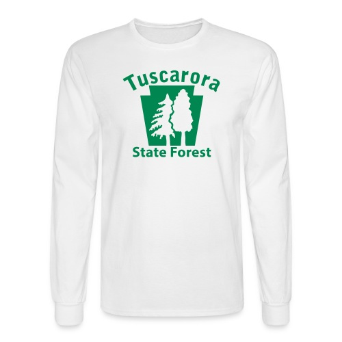 Tuscarora State Forest Keystone w/Trees - Men's Long Sleeve T-Shirt