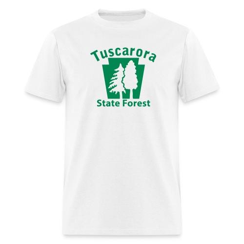 Tuscarora State Forest Keystone w/Trees - Men's T-Shirt