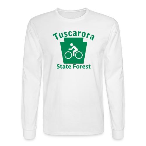 Tuscarora State Forest Keystone Biker - Men's Long Sleeve T-Shirt