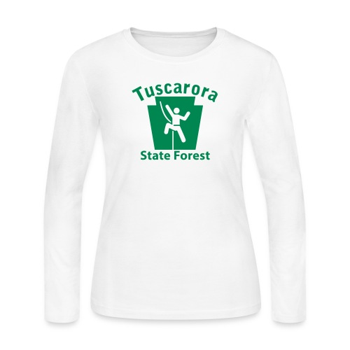 Tuscarora State Forest Keystone Climber - Women's Long Sleeve Jersey T-Shirt
