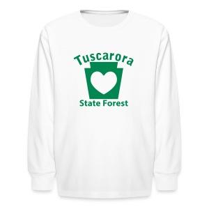 Tuscarora State Forest Keystone Heart - Kids' Long Sleeve T-Shirt
