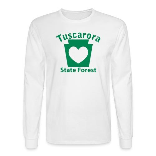 Tuscarora State Forest Keystone Heart - Men's Long Sleeve T-Shirt