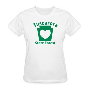 Tuscarora State Forest Keystone Heart - Women's T-Shirt