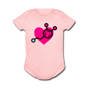 Dopamine-Heart Baby One Piece - Short Sleeve Baby Bodysuit
