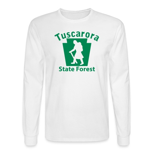 Tuscarora State Forest Keystone Hiker (female) - Men's Long Sleeve T-Shirt
