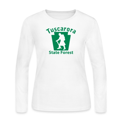 Tuscarora State Forest Keystone Hiker (female) - Women's Long Sleeve Jersey T-Shirt