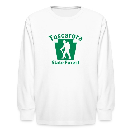 Tuscarora State Forest Keystone Hiker (male) - Kids' Long Sleeve T-Shirt