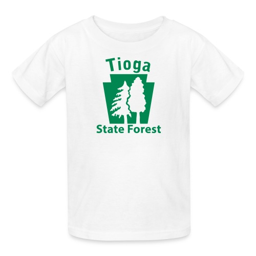 Tioga State Forest Keystone w/trees - Kids' T-Shirt