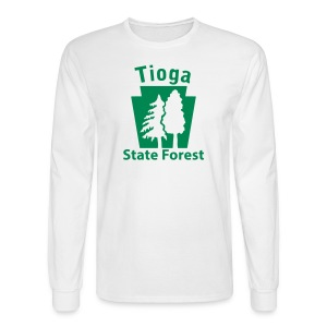 Tioga State Forest Keystone w/trees - Men's Long Sleeve T-Shirt