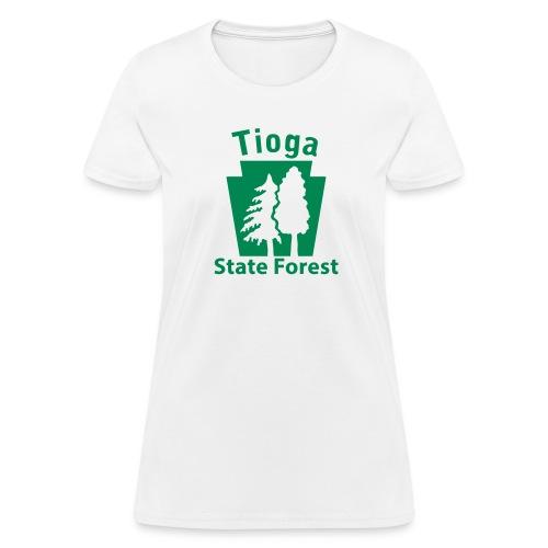 Tioga State Forest Keystone w/trees - Women's T-Shirt