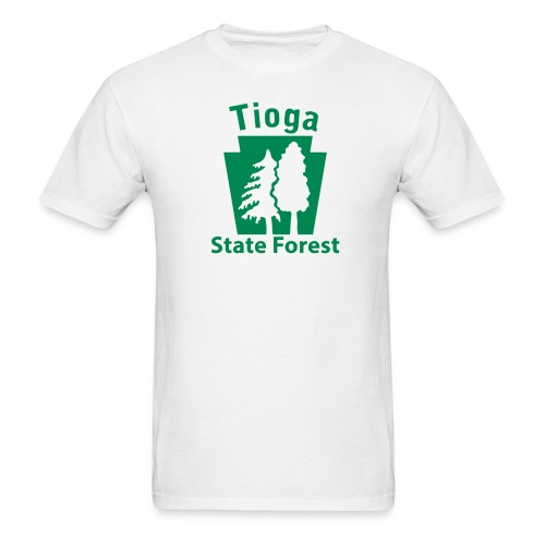 Tioga State Forest Keystone w/trees - Men's T-Shirt