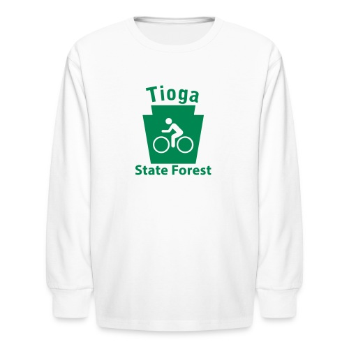 Tioga State Forest Keystone Biker - Kids' Long Sleeve T-Shirt