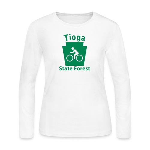 Tioga State Forest Keystone Biker - Women's Long Sleeve Jersey T-Shirt
