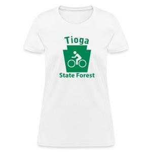Tioga State Forest Keystone Biker - Women's T-Shirt