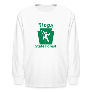 Tioga State Forest Keystone Climber - Kids' Long Sleeve T-Shirt