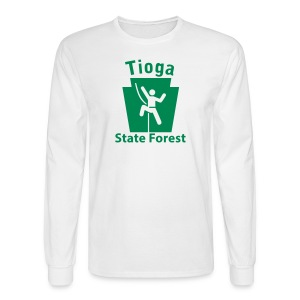 Tioga State Forest Keystone Climber - Men's Long Sleeve T-Shirt