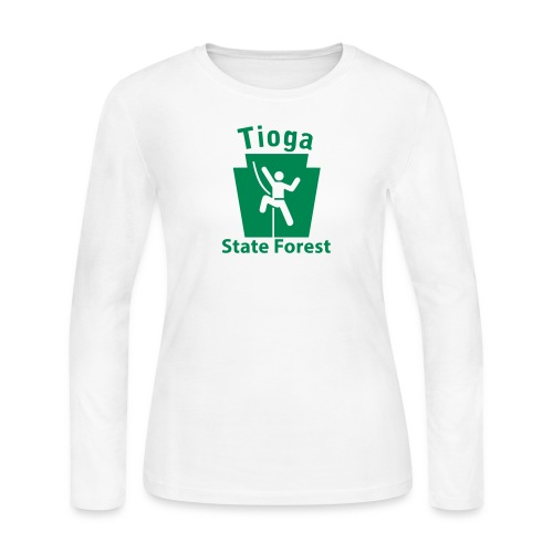 Tioga State Forest Keystone Climber - Women's Long Sleeve Jersey T-Shirt