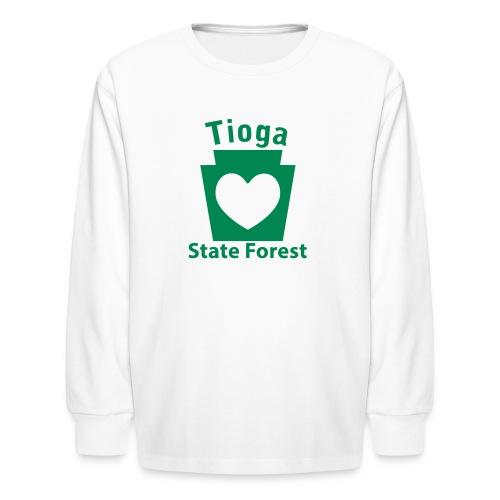 Tioga State Forest Keystone Heart - Kids' Long Sleeve T-Shirt