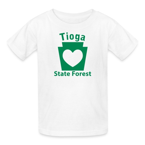 Tioga State Forest Keystone Heart - Kids' T-Shirt