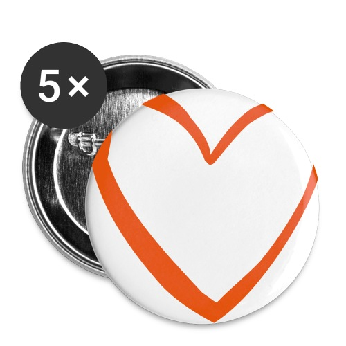 Hearted Buttons - Large Buttons