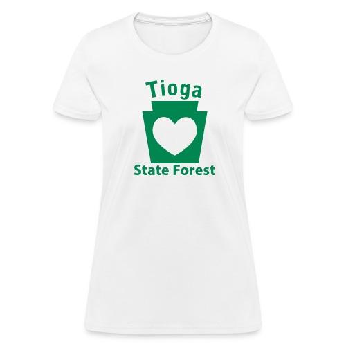 Tioga State Forest Keystone Heart - Women's T-Shirt