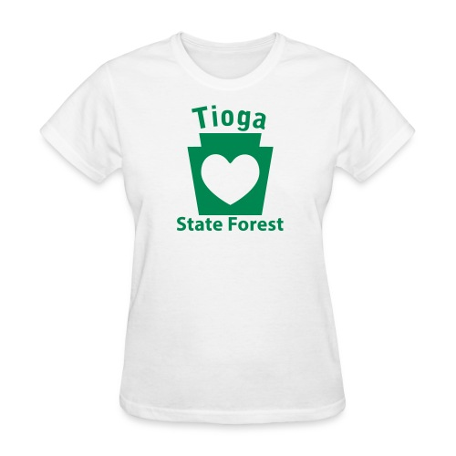 Tioga State Forest Keystone Heart - Women's T-Shirt