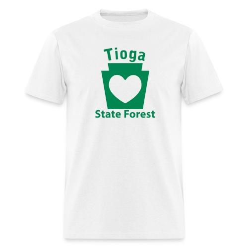 Tioga State Forest Keystone Heart - Men's T-Shirt