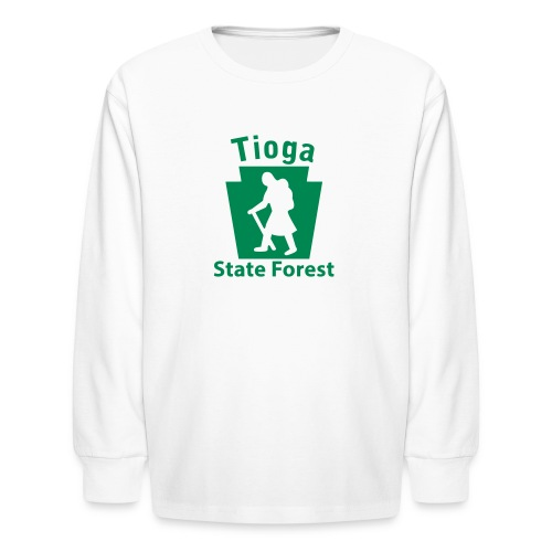 Tioga State Forest Keystone Hiker (female) - Kids' Long Sleeve T-Shirt