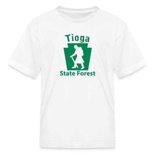 Tioga State Forest Keystone Hiker (female) - Kids' T-Shirt