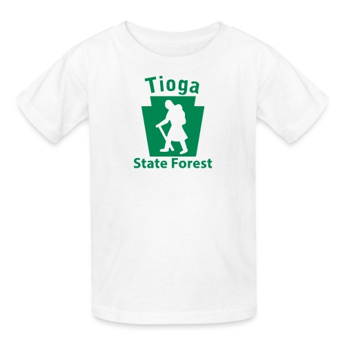 Tioga State Forest Keystone Hiker (female) - Kids' T-Shirt