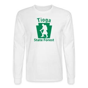 Tioga State Forest Keystone Hiker (female) - Men's Long Sleeve T-Shirt