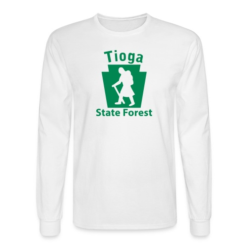 Tioga State Forest Keystone Hiker (female) - Men's Long Sleeve T-Shirt