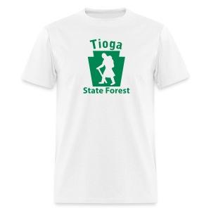 Tioga State Forest Keystone Hiker (female) - Men's T-Shirt