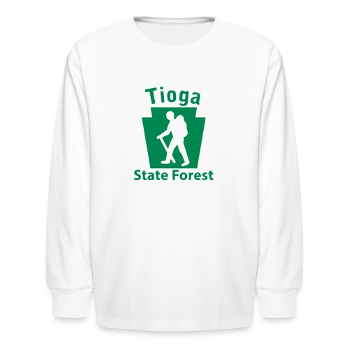 Tioga State Forest Keystone Hiker (male) - Kids' Long Sleeve T-Shirt