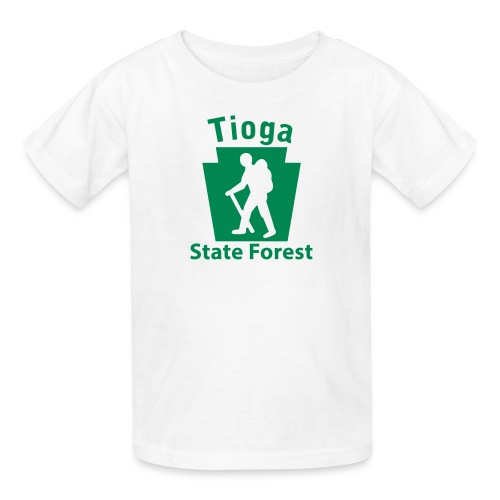 Tioga State Forest Keystone Hiker (male) - Kids' T-Shirt