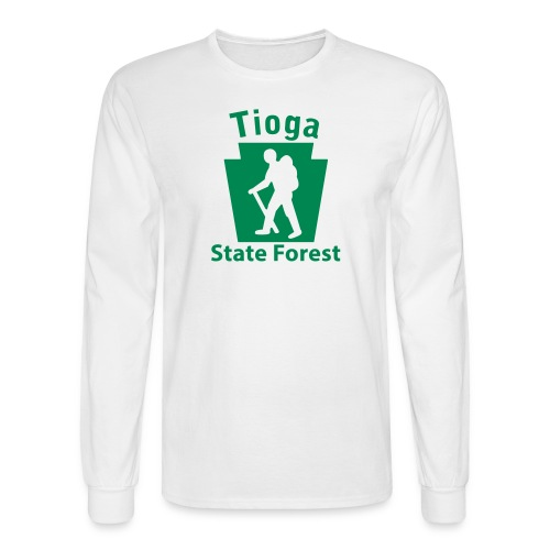 Tioga State Forest Keystone Hiker (male) - Men's Long Sleeve T-Shirt