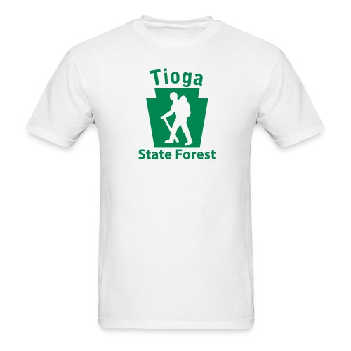 Tioga State Forest Keystone Hiker (male) - Men's T-Shirt