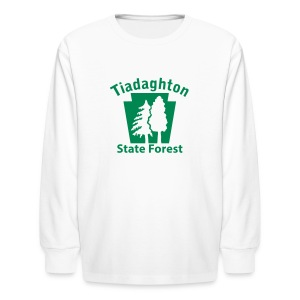 Tiadaghton State Forest Keystone w/Trees - Kids' Long Sleeve T-Shirt