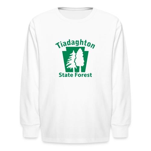 Tiadaghton State Forest Keystone w/Trees - Kids' Long Sleeve T-Shirt
