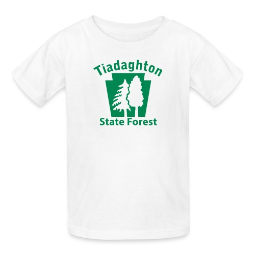 Tiadaghton State Forest Keystone w/Trees - Kids' T-Shirt