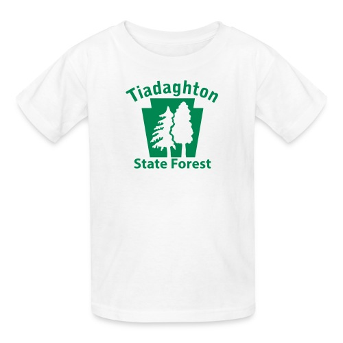 Tiadaghton State Forest Keystone w/Trees - Kids' T-Shirt